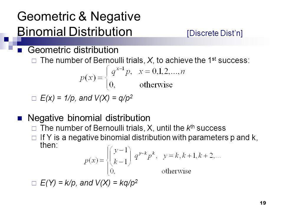 Geometric & Negative Binomial Distribution [Discrete Dist'n]